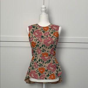 Blossom Embroidered Peplum Top